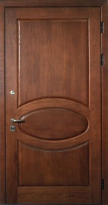 стальные двери с отделкой шпон